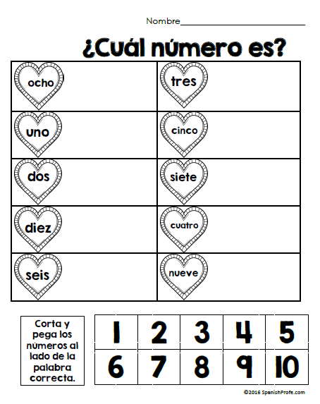 Free Bilingual February Math Worksheets- Kindergarten (Gratis ...