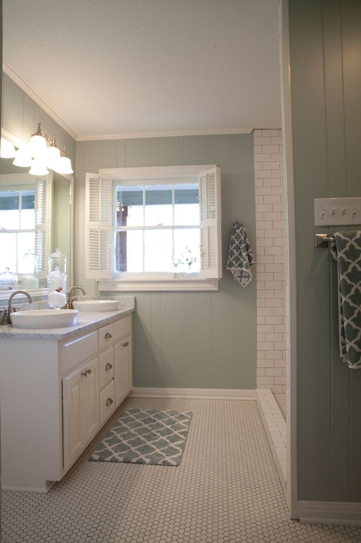 Bathroom Remodels On Fixer Upper as seen on hgtv's fixer upper. this is how we should do floor