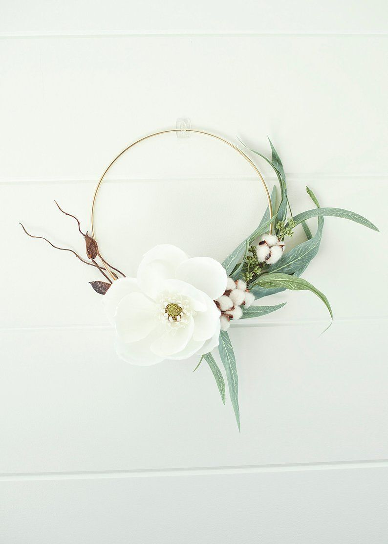 Photo of Modern Fall Floral Wreath