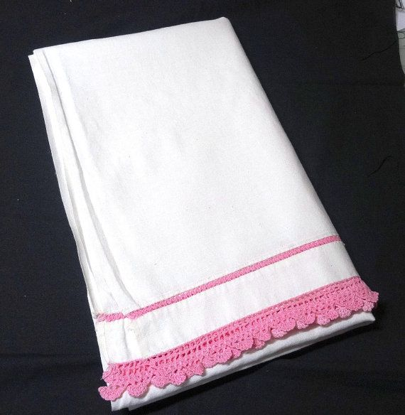 Vintage 1960s White Cotton Baby Flat Sheet by VictorianWardrobe, $15.00
