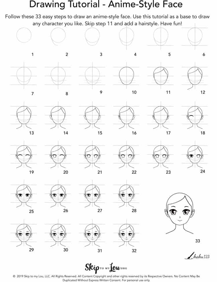 how to draw an anime step by step Anime drawings