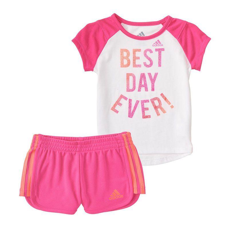 145a4a718 adidas 2-pack Short Set Baby Girls #babygirlshorts | baby girl ...