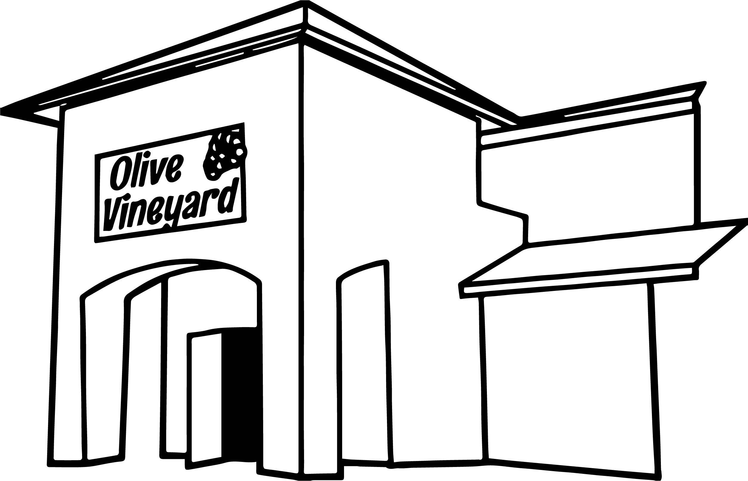 Nice Olive Vineyard Building Front Of Restaurant Coloring Page Coloring Pages Building Front Coloring Sheets For Kids
