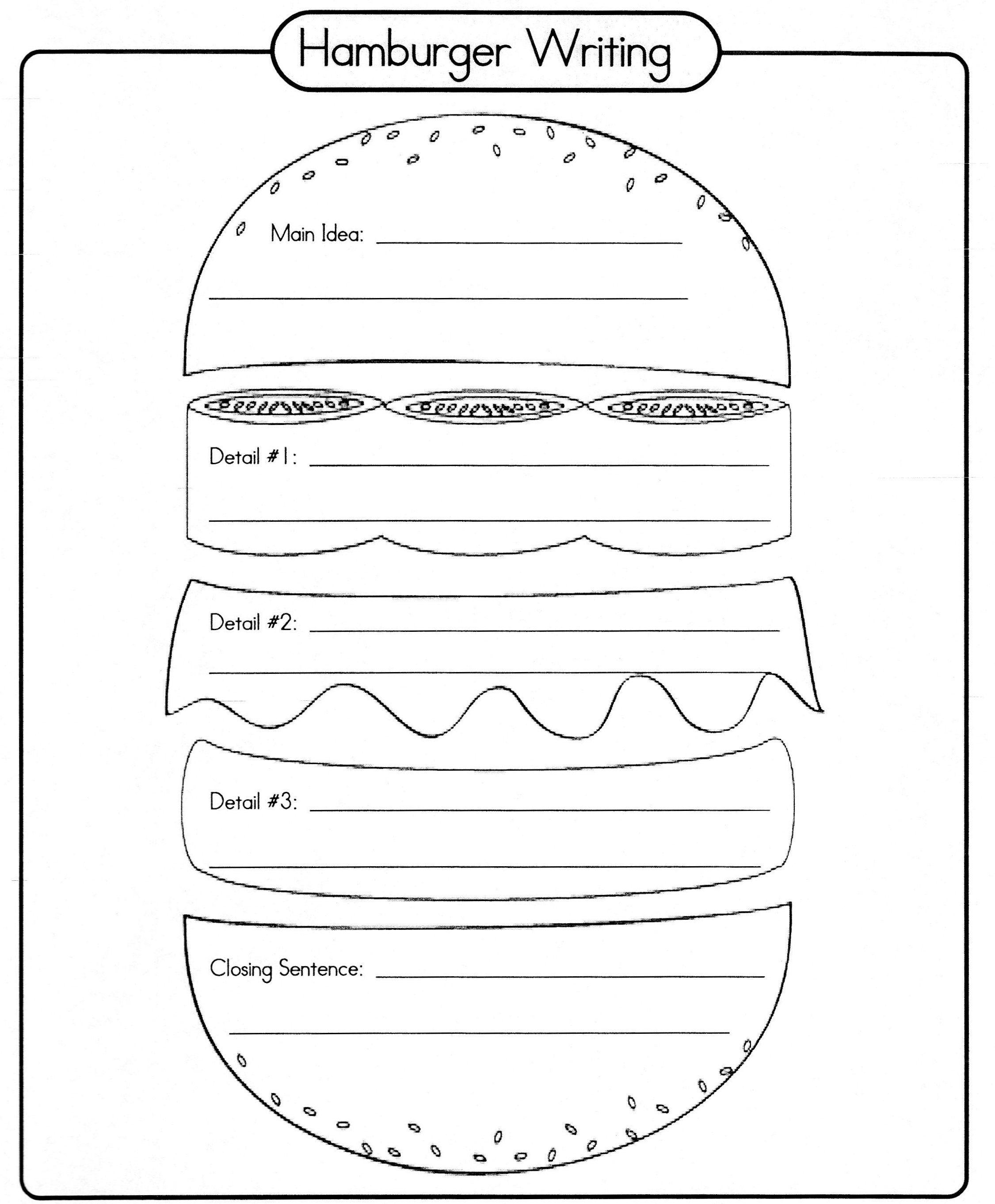 Answer Sandwich Graphic Organizer Super Teacher Worksheets Teacher Worksheets Super Teacher Hamburger writing template free
