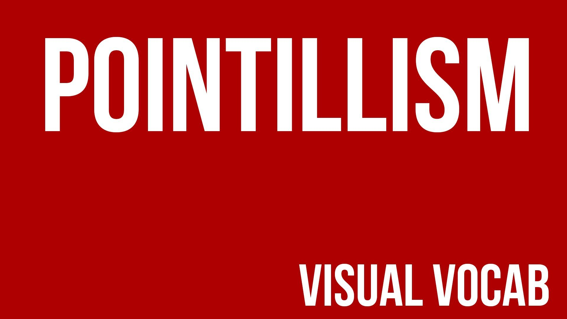 Pointillism defined - From Goodbye-Art Academy