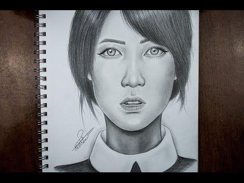How To Draw By Mustafa Saadi Portrait Art Drawings