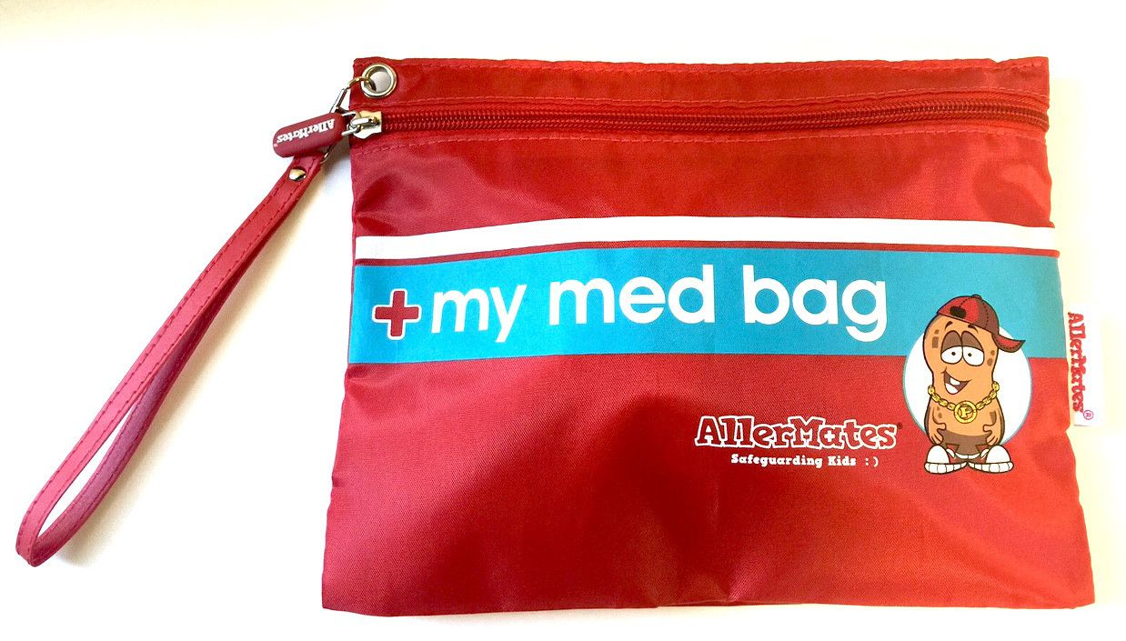 Red Med Bag Great For Carrying Allergy And Asthma