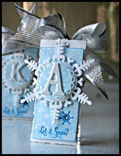 Kazan Clark SnowflakeTag using Snowfall Background Stamp
