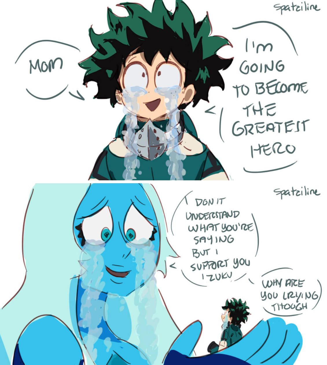 So Is The Crying A Quirk Or A Gem Power Crossover Steven Universe Funny My Hero Steven Universe Comic