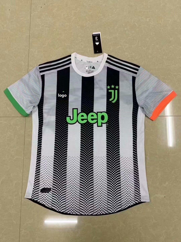 201920 player version adult juventus home soccer jersey