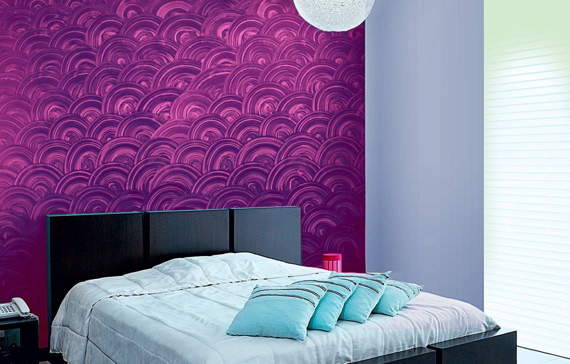 The Effects Of Discs Can Create An Illusion Inside Your Rooms Get Asian Paints Royale Play Di Wall Texture Design Wall Paint Designs Asian Paints Wall Designs