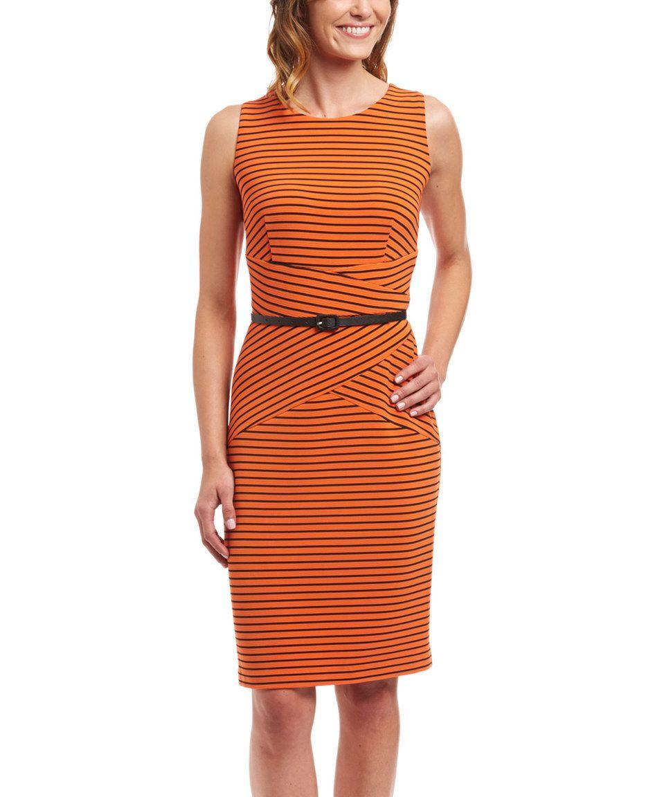 Another great find on zulily orange u black stripe wrappanel