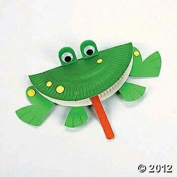 Paper Plate Frog Craft--fun for your preschoolers. letter f craft & Pin by Savvina Chalkidi on ζωα | Pinterest