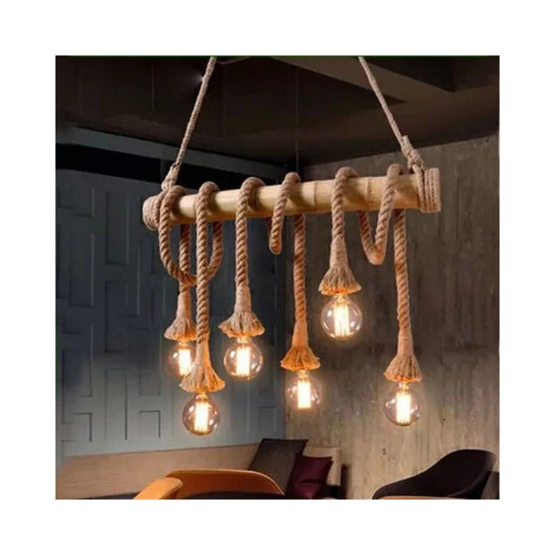 hemp Rope Light marine style  lamp Dining room light American style Decorative Ceiling FarmHouse cahmdelier rustic rope chandelier