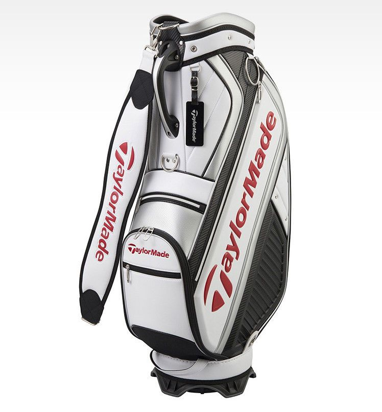 db7822465ea8 TaylorMade M-6 Series MID Size Sports Caddie Golf Bag Club Bag White Red  U23382