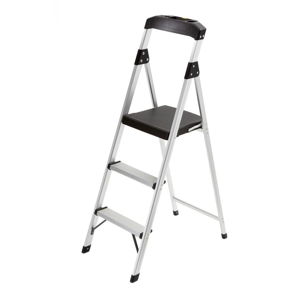 Gorilla Ladders 3 Step Aluminum Step Stool Ladder With 225 Lb