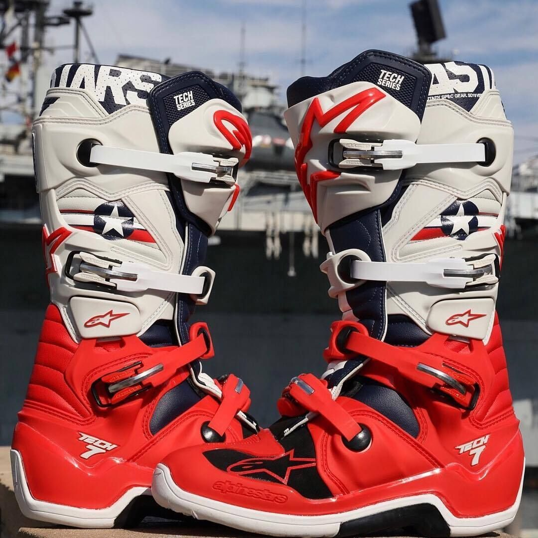 Got To Love The Military Appreciation One Off Gear Here Is Alpinestars Le Five Star Tech 7 And Racer Gear Motocross Su Mx Boots Dirt Bike Gear Riding Gear