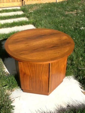 Lane Walnut Octagon Side Table - $60 in Denver ...