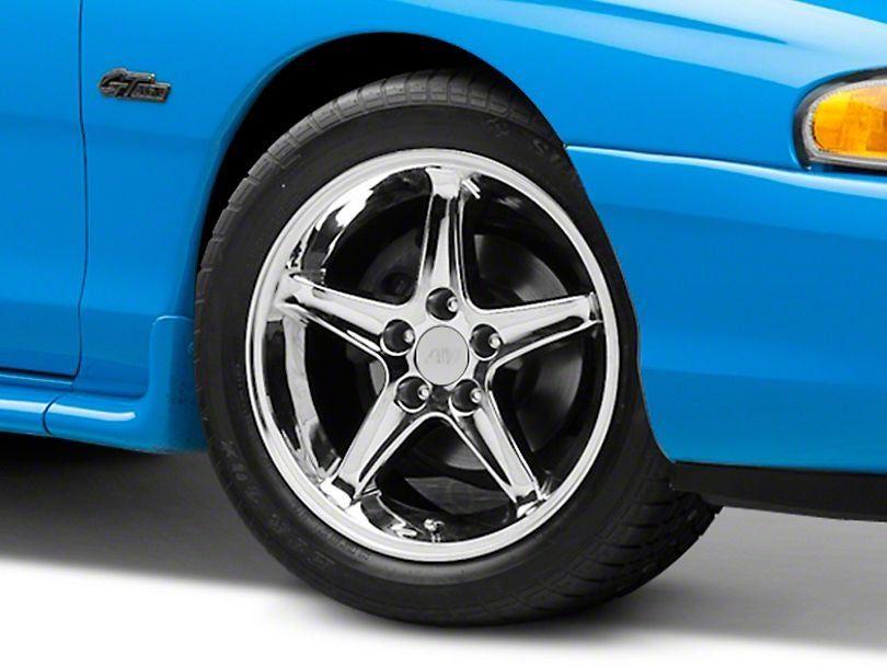 1995 Cobra R Style Chrome Wheel; 17x9 in 2020 Chrome