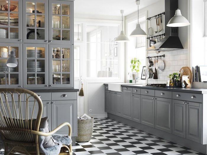 Déco cuisine gris et blanc \u2013 sobre et efficace cuisine blanche