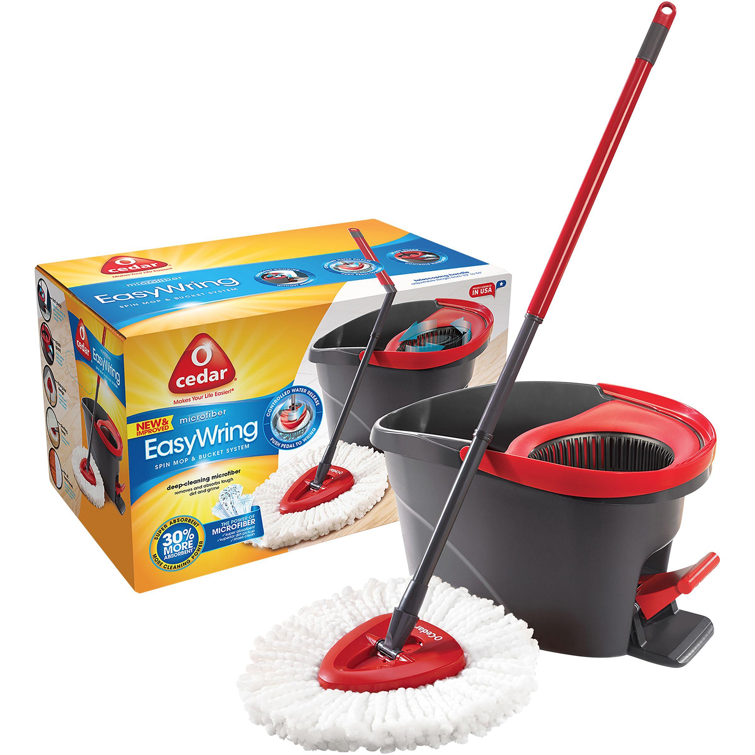 O Cedar Easywring Spin Microfiber Mop Bucket System 1 Kt Box Spin Mop Wet Mops Microfiber Mops