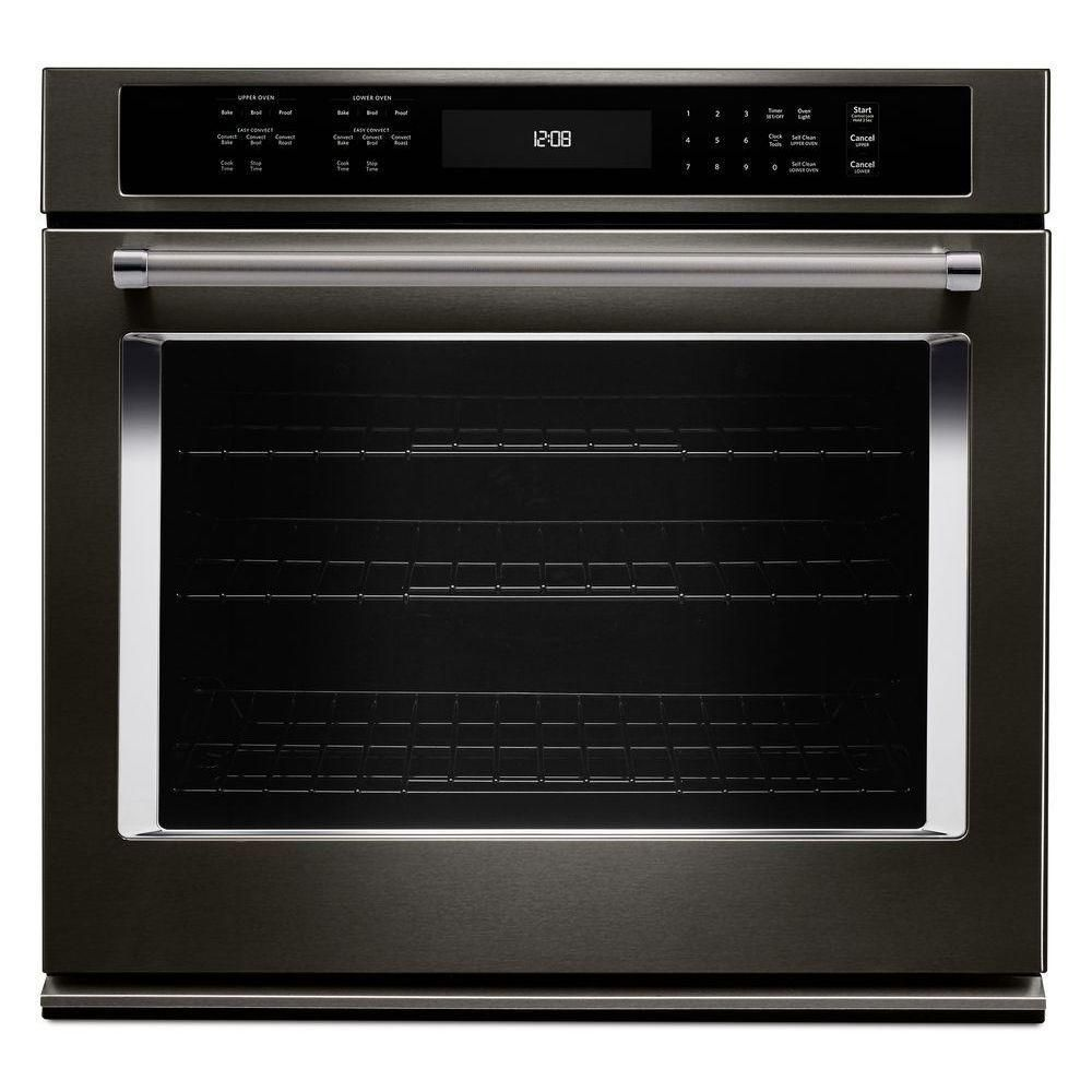 Kitchenaid 30 in single electric wall oven selfcleaning