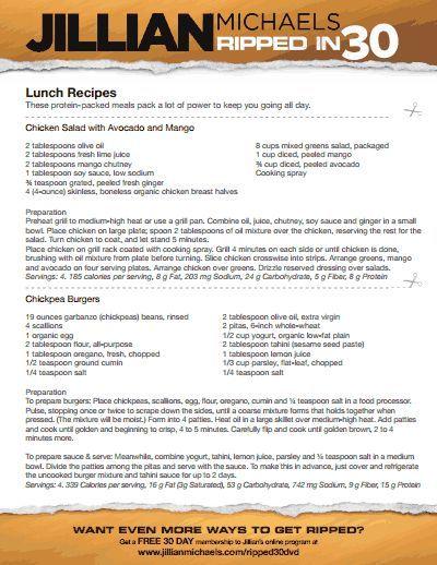jillian-michaels-ripped-in-30-meal-plan-v.pdf   Healthy ...