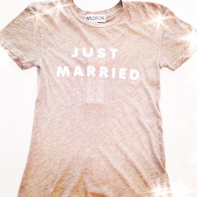 To all you beautiful soon to be brides out there, this is your tee by WILDFOX #bride #weddingseason #justmarried #boutique #honeymoonapproved #wedding #somethingblue #someborrowed #somethingnew #bridetobe #spring #style #cutetee #love