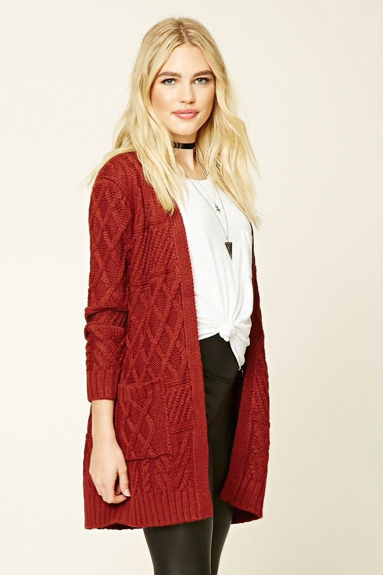 6147dd4bd6 A midweight cable knit cardigan featuring a longline silhouette ...