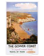 Vintage Style Railway Poster Gower Peninsula A4//A3//A2 Print