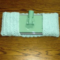 Mop Cover  - Go Green, don't buy those disposable mop pads again. Couple of other patterns here also, a ridged one and a loopy one.