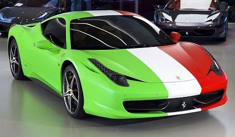 How much do you love Italy Italian Wrapped Ferrari 458 Italia  A
