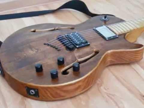 diy homemade semi hollow body guitar guitar case how to guitar guitar guitar case guitar. Black Bedroom Furniture Sets. Home Design Ideas