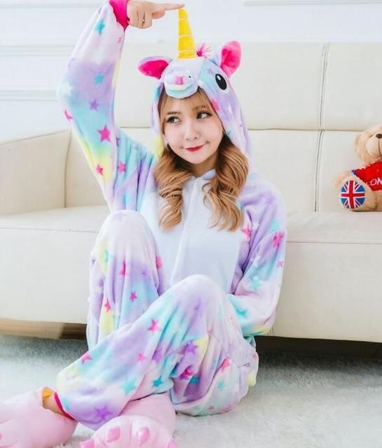 ea500d50db39 Magical starry purple   rainbow color unicorn onesie