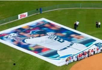 My buddies at Synergy -- unveiling the world's largest baseball card w/Topps in Lakeland FL  (I heart FSC)