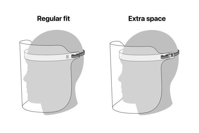 Apple fournit les plans pour concevoir son masque avec visière