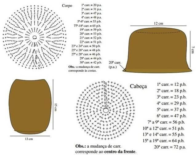crochet patrón de búho 1 | AMIGURUMIS | Pinterest | Patrones de búho ...
