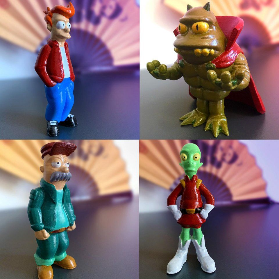 Again ive created a bunch of futurama characters for 3d