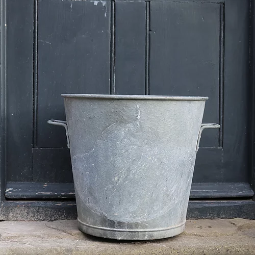 Vintage Large Galvanised Zinc Planter Tub Sugden And Daughters Goruntuler Ile
