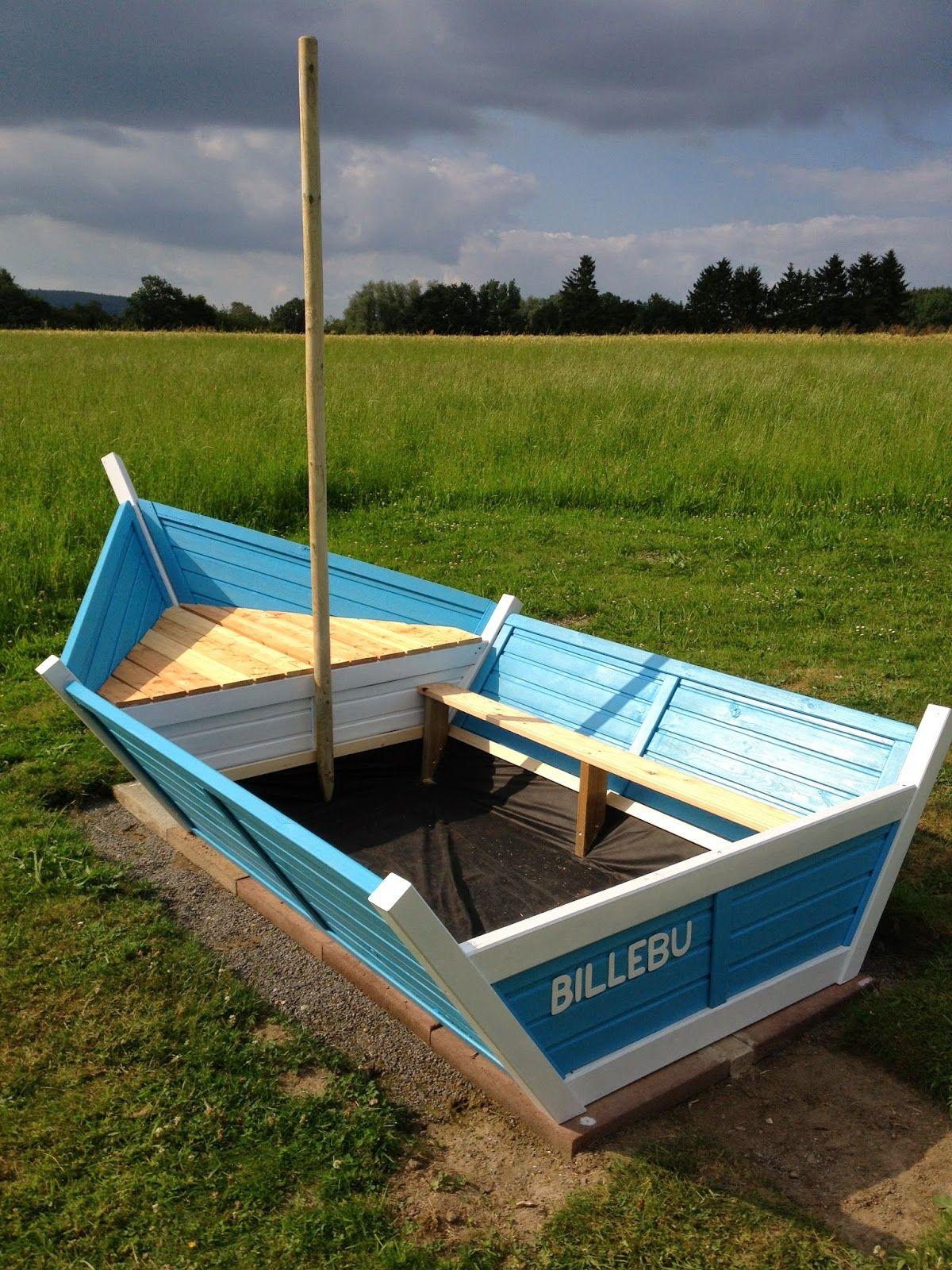 Bau eines DIY Segelboot-Sandkastens