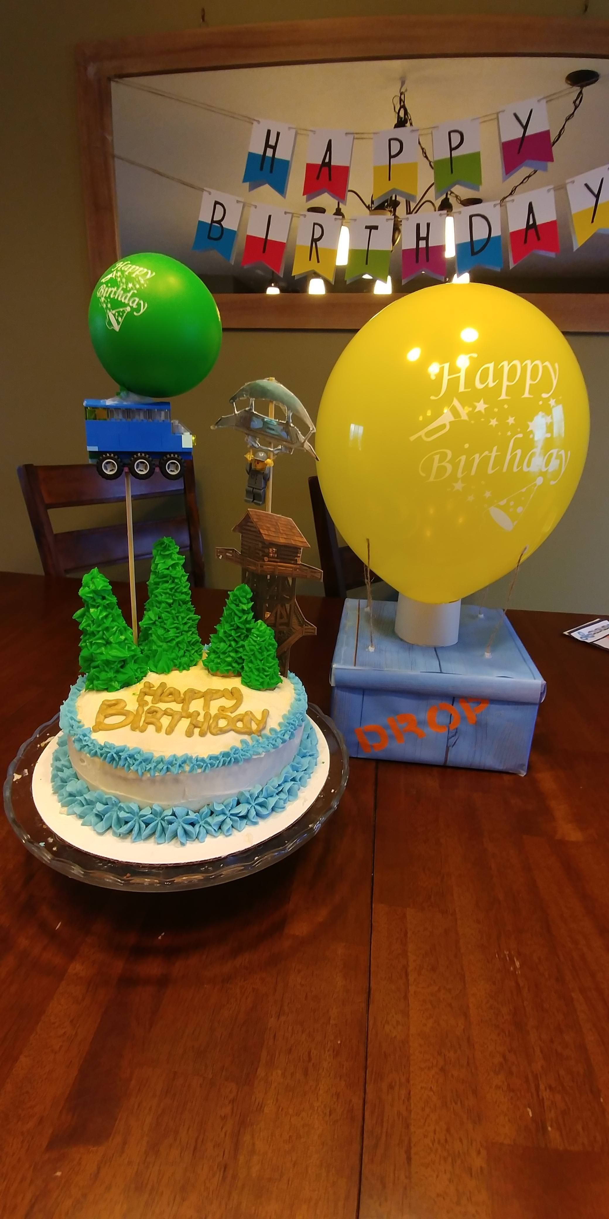 my wife surprised me with a fortnite cake for my 28th birthday, and