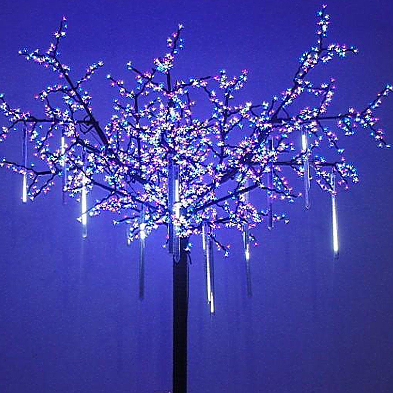 50cm-240-LED 8 Falling Rain Drop/icicle Snow Fall Snowfall String ...