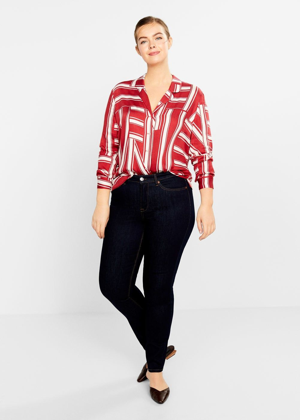 aa57792f179 Slim-fit susan jeans - Plus sizes in 2019 | Want ☆ | Casual, Plus ...