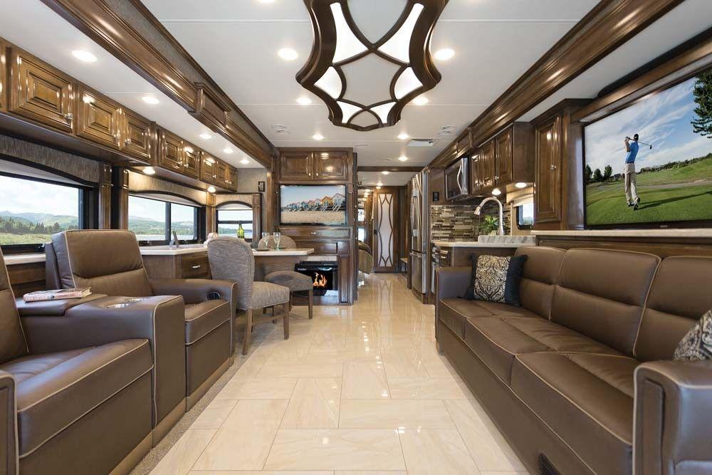 30 Elegant Custom Interior Ideas For Rv With Images Luxury Rv