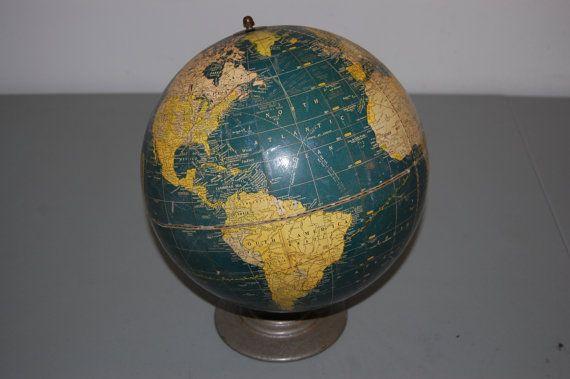 Vintage Globe Cram's Universal Terrestrial 10.5 World by JunquePro, $20.00