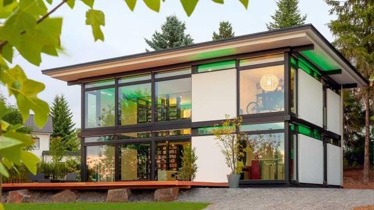 Modernes Fachwerkhaus bauen Huf häuser, Flachdach und
