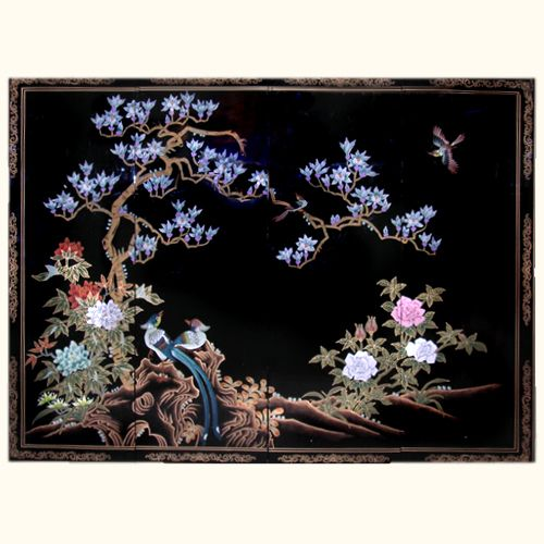 Bon Oriental Furnishings   Oriental Wall Art Hand Painted Birds