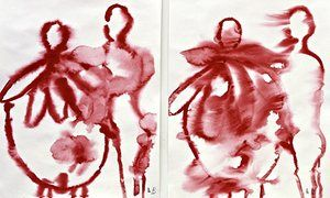 A detail from The Family, 2008, by Louise Bourgeois