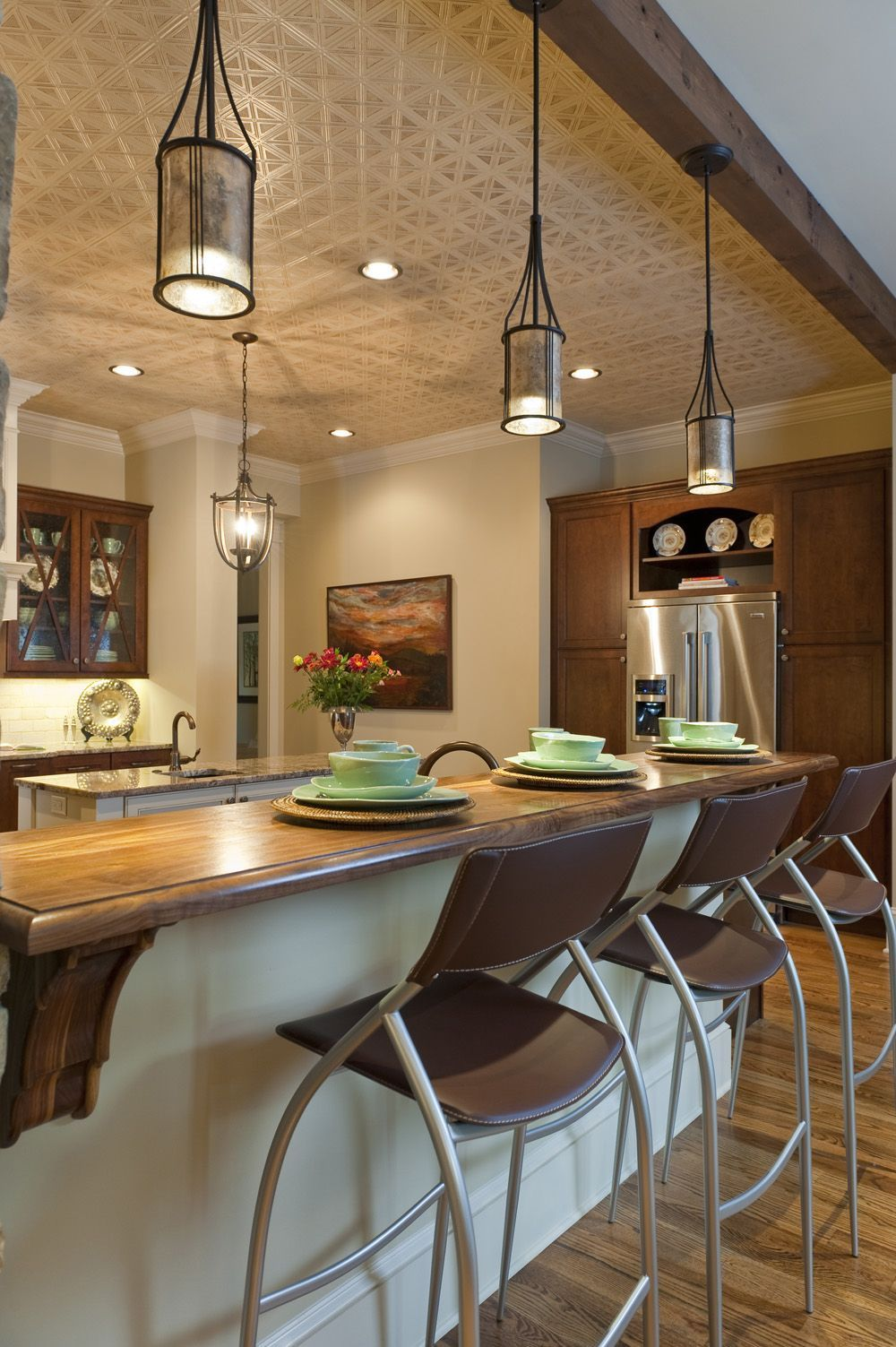 Inspiring Kitchen Lights Above Island Bar Lighting Picture