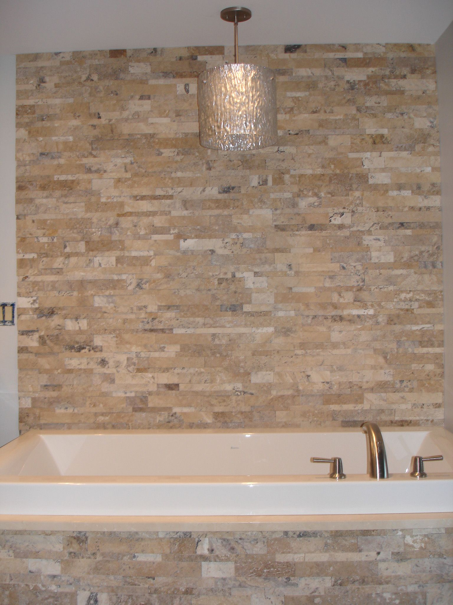 Stacked Stone Tub Surround Actual Installations